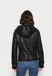 Freaky Nation - ARCTIC DAY - Leather jacket - black - 2