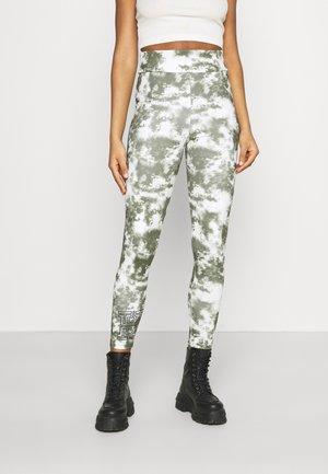 LOGO  - Leggings - Trousers - white/khaki