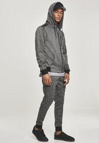 Southpole - HERREN MARLED TECH FLEECE FULL ZIP HOODY - Sweatjacke - marled black - 1