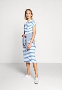 Polo Ralph Lauren - PIMA - Žerzejové šaty - white/rivera blu - 1