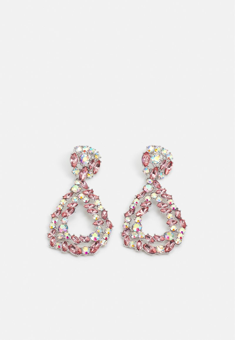 Pieces - PCSASA EARRINGS  - Earrings - silver-coloured/rose-clear