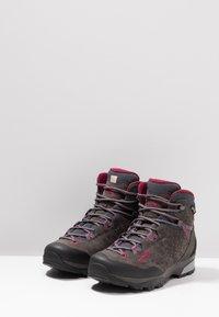 Lowa - SASSA GTX MID - Hiking shoes - anthrazit/fuchsia - 2