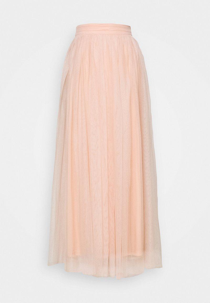 Lace & Beads - MARIKO SKIRT - Áčková sukně - nude