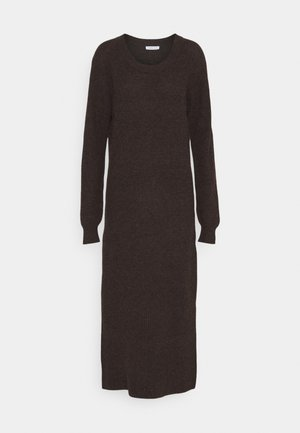 CARMEN SLIT DRESS - Jumper dress - dark brown