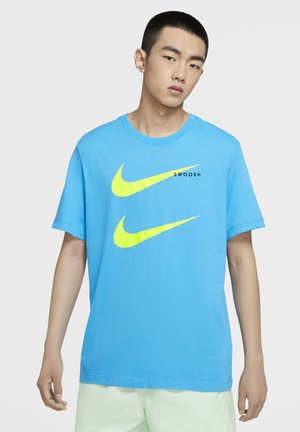 TEE - Print T-shirt - light current blue/volt
