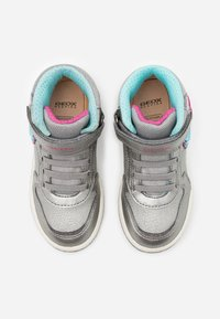 Geox - INEK GIRL - Zapatillas altas - dark silver/fuchsia - 3