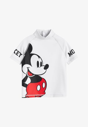 RED MICKEY MOUSE RASH VEST AND SHORTS SET (3MTHS-8YRS) - Szorty kąpielowe - red