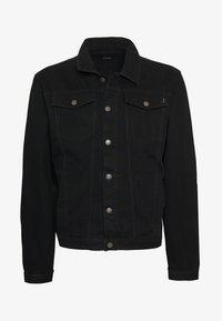 PLUS DISTRESSED JACKET - Denim jacket - black