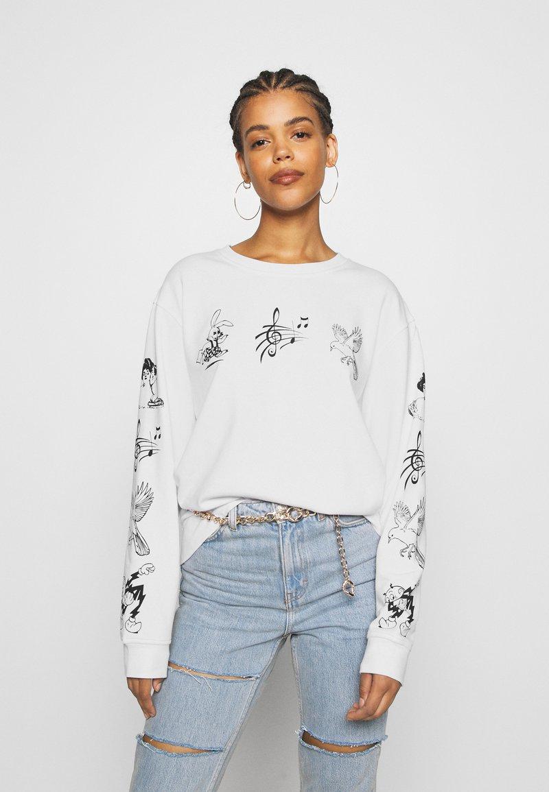 NEW girl ORDER - CLASSIC CARTOON  - Sweatshirt - white