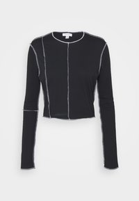 Topshop - CONT STITCH - Long sleeved top - black - 4