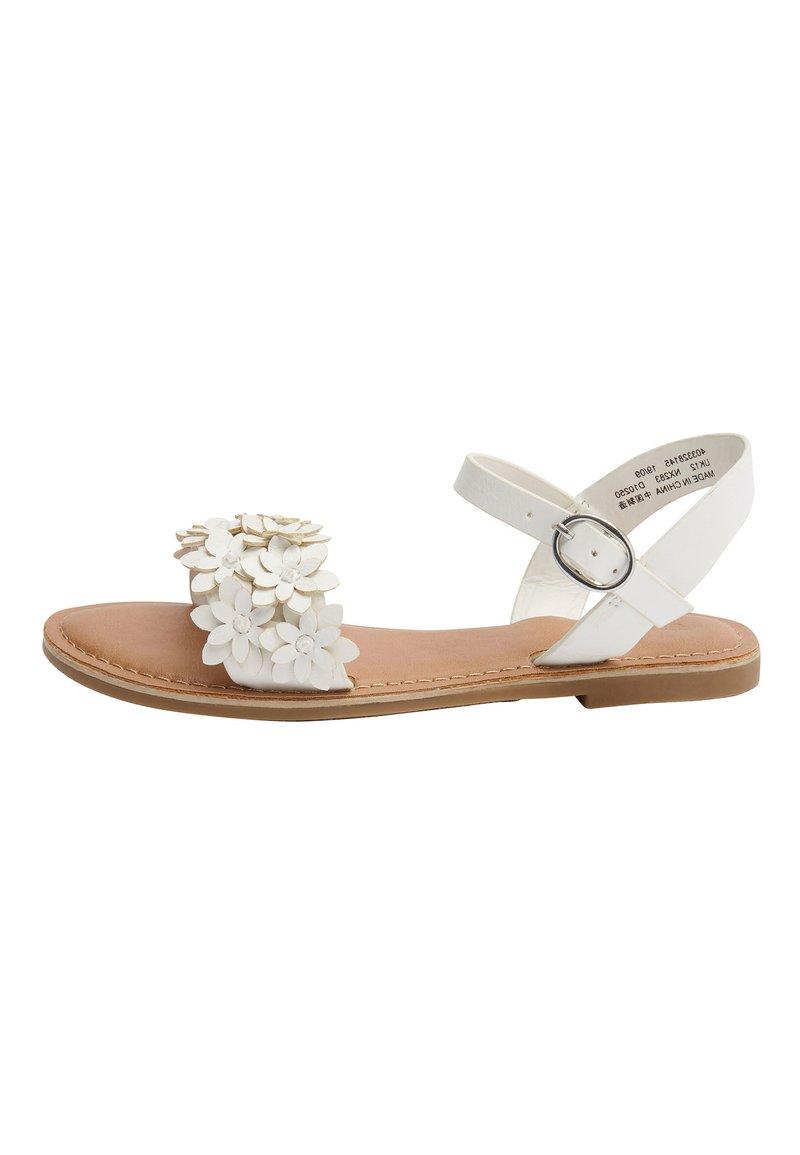 Next - TAN FLOWER EMBELLISHED SANDALS (OLDER) - Sandalen - white