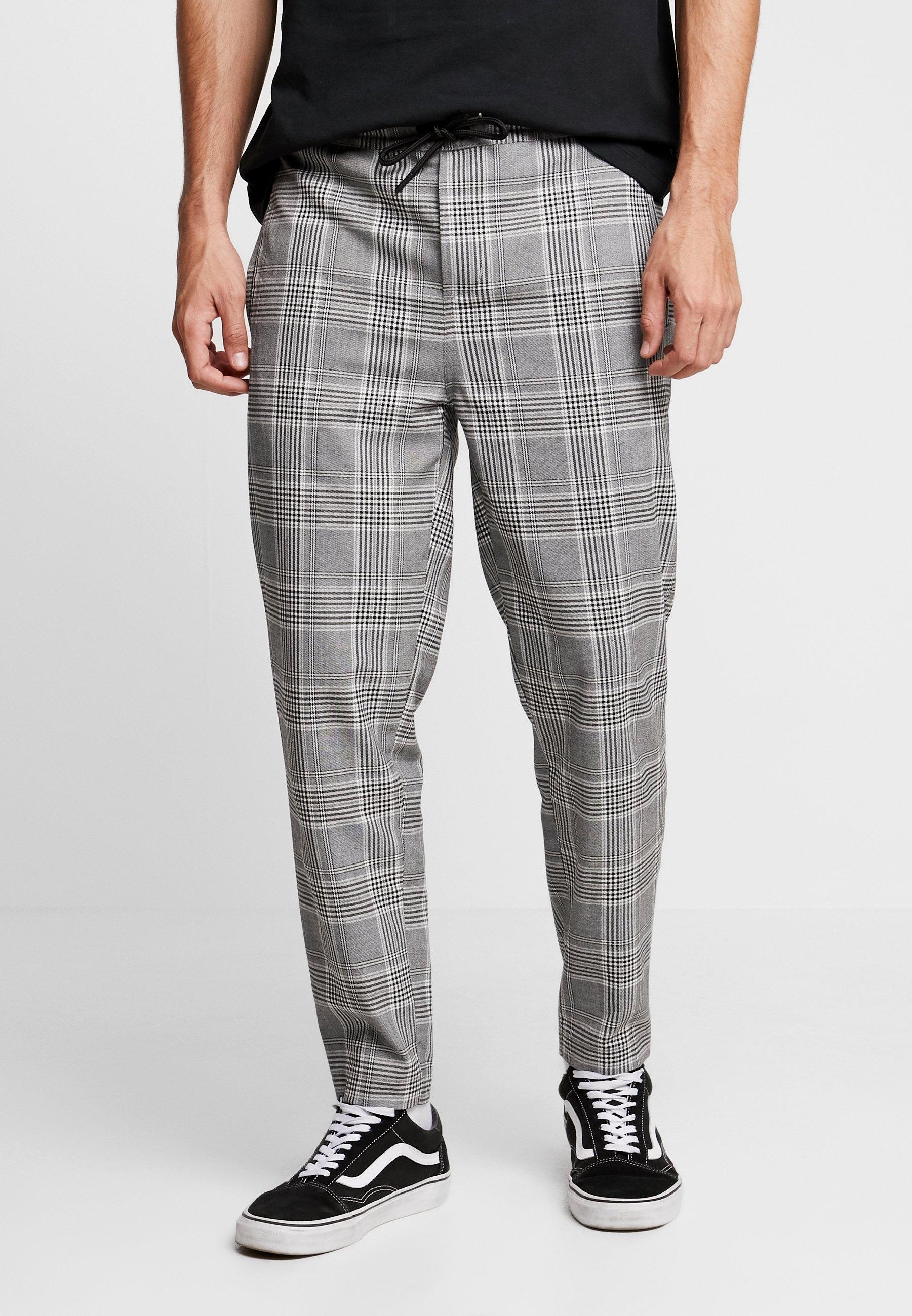 Uomo CROPPED COMFORT GLENCHECK PANTS - Pantaloni