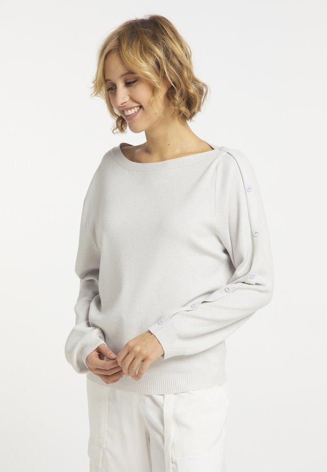 Sweter - hellgrau melange