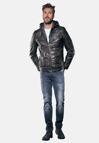 Emilio Adani - Leather jacket - schwarz - 1