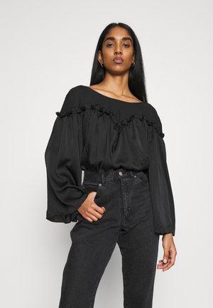NATURAL - Long sleeved top - black