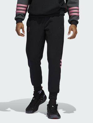 Tracksuit bottoms - black/pink