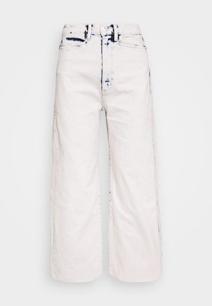 WIDE LEG CROP - Jeans a zampa - bleached denim