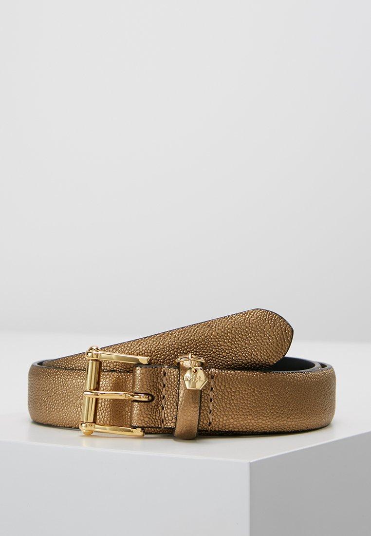 Lauren Ralph Lauren - BELT WITH SCULPTED - Belt - deep bronze