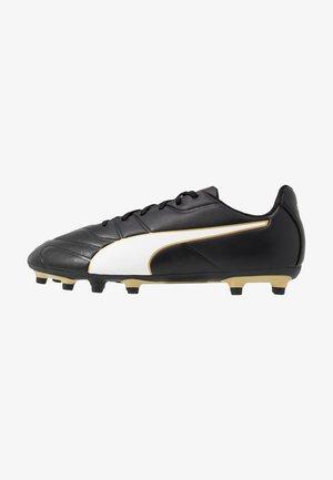 CLASSICO C II FG - Botas de fútbol con tacos - black/white/gold