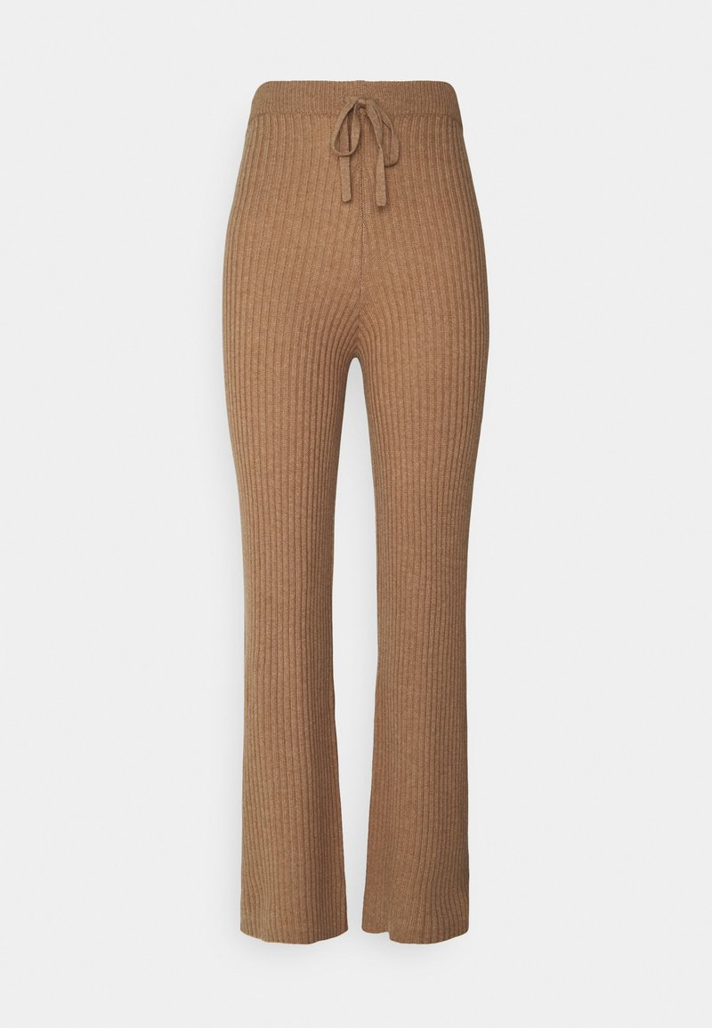 pure cashmere - LONG PANTS - Trousers - dark beige