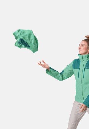 JASPER JKT W - Waterproof jacket - pacific green