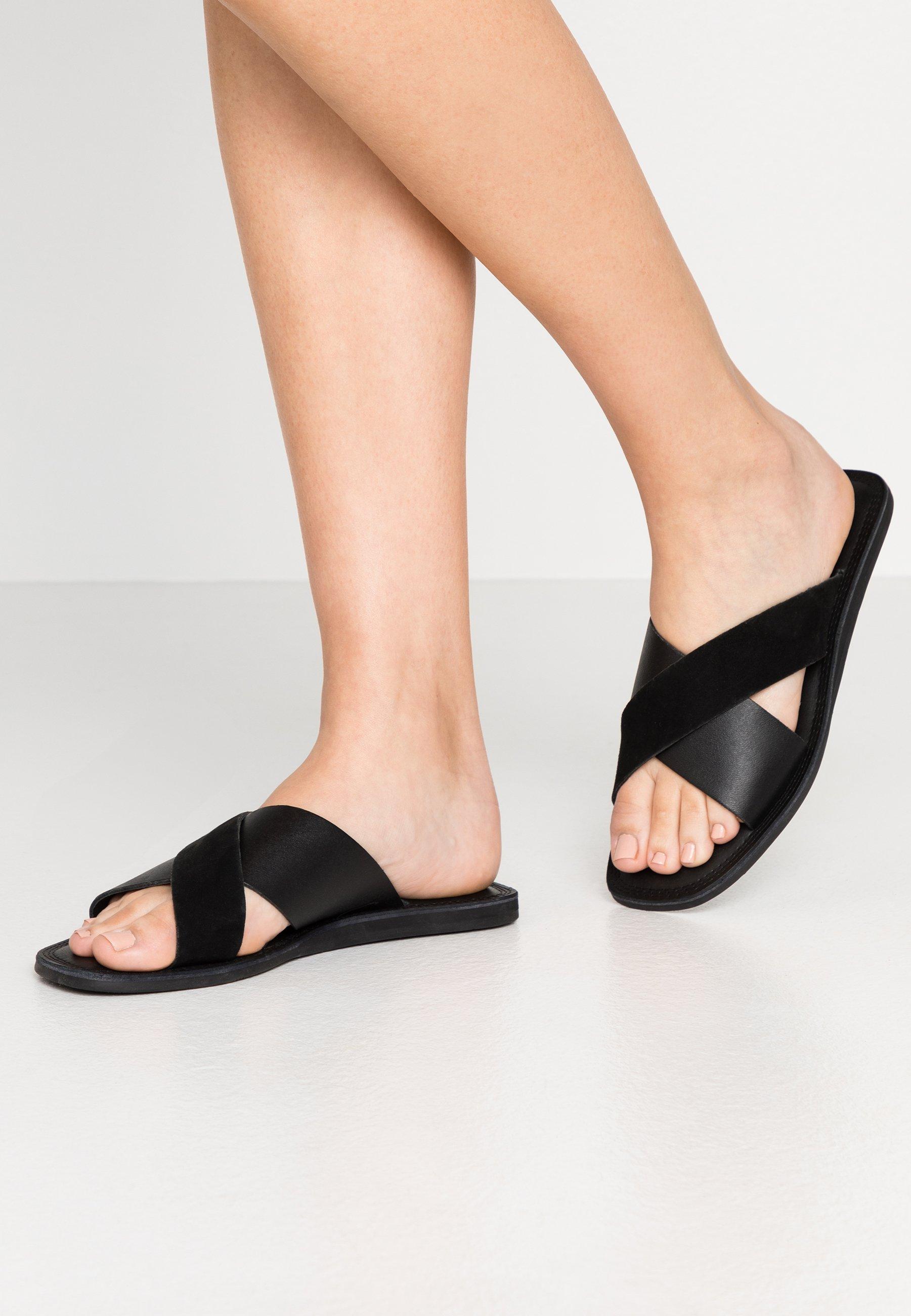 Shoe The Bear TAO SLIDE - Mules - black - Mules & Sabots femme Officiel