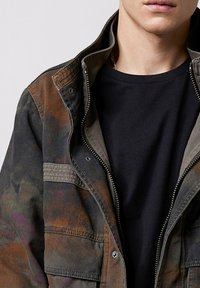Tigha - MILITARY - Denim jacket - blurry camo