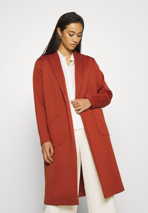 ONLSISSY DUSTER LONG COAT - Classic coat - burnt henna