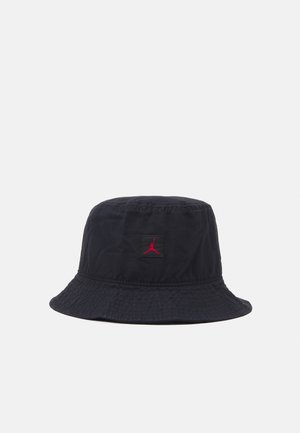 BUCKET WASHED UNISEX - Hat - black/gym red