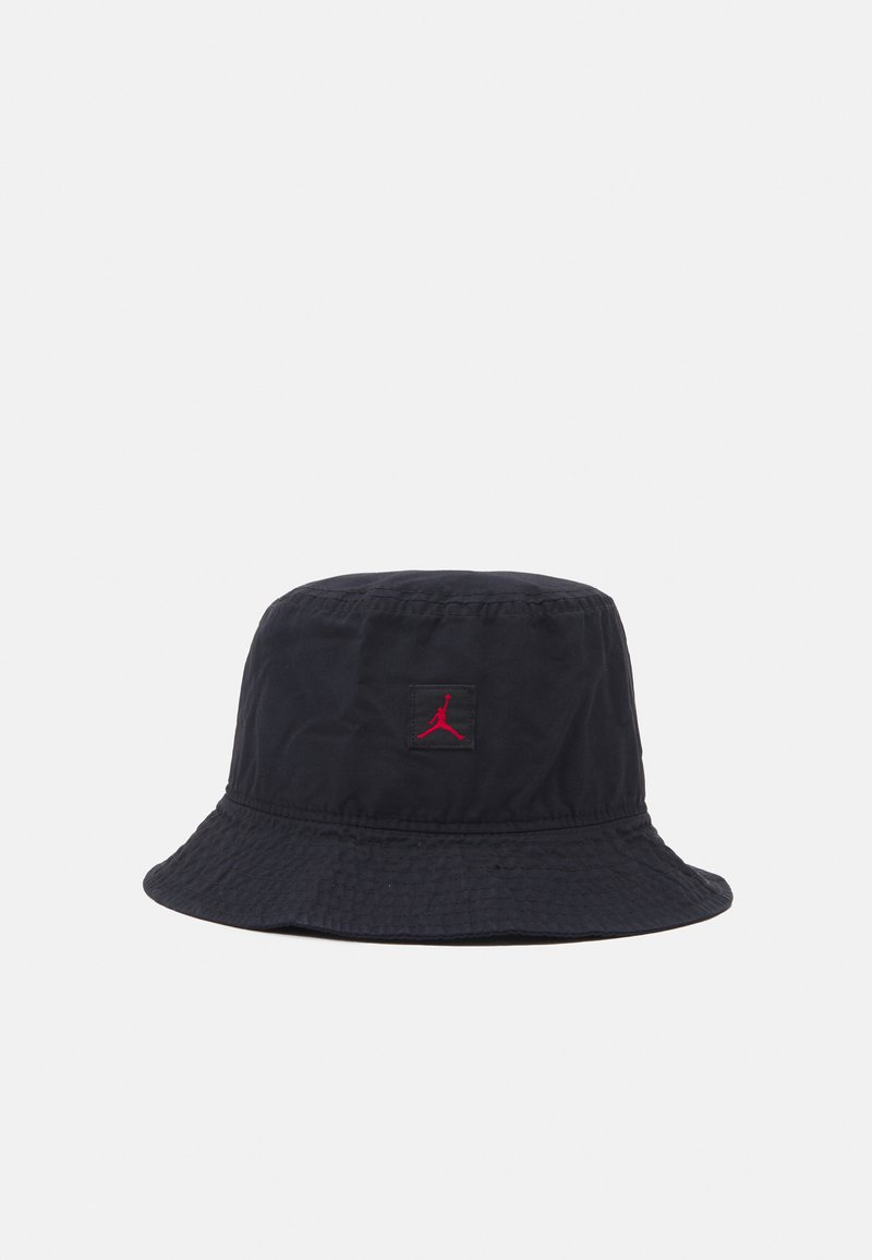 Jordan - BUCKET WASHED UNISEX - Hattu - black/gym red
