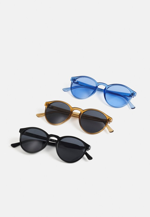 SUNGLASSES CYPRES 3 PACK - Solglasögon - black/brown/blue