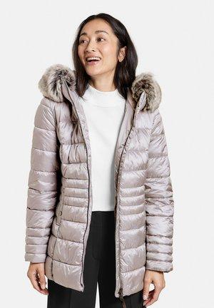 MIT WEBPELZKRAGEN - Outdoor jacket - silber