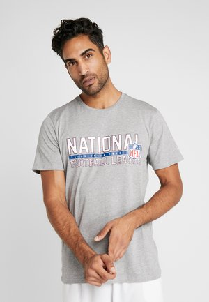 NFL STACKED WORDMARK TEE - T-shirt print - light grey heather