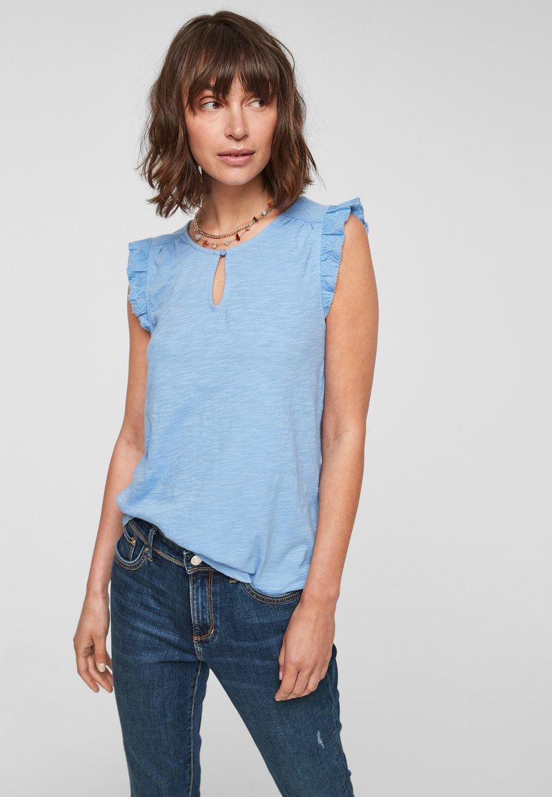 s.Oliver - Print T-shirt - light blue