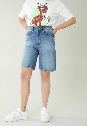 Jeansshort - denimblau