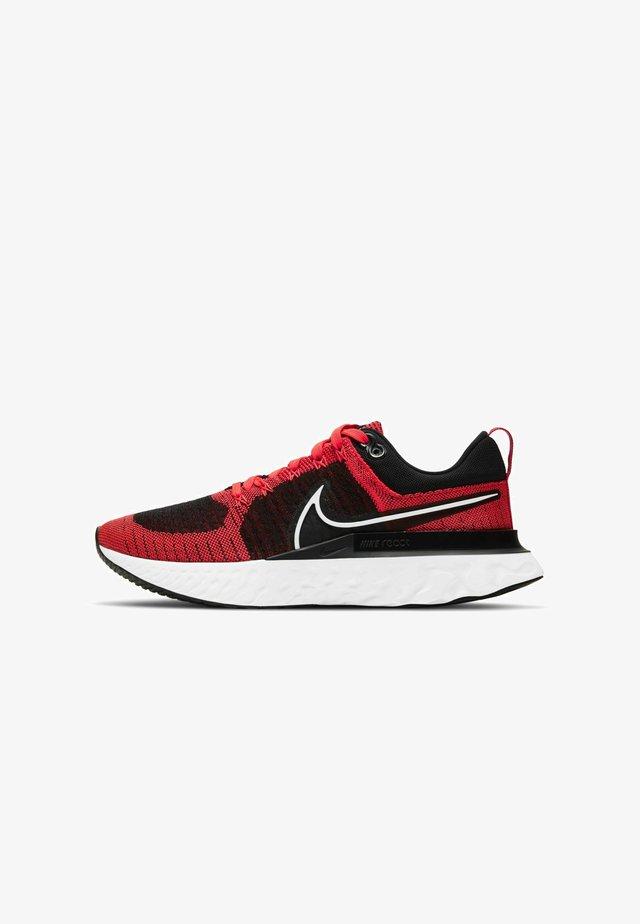 REACT INFINITY RUN FK 2 - Neutral running shoes - bright crimson black dark smoke grey white