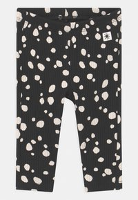 Lindex - BASIC DOTS UNISEX - Leggings - Trousers - off black - 0