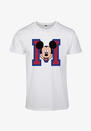 MICKEY MOUSE M FACE - Triko s potiskem - white