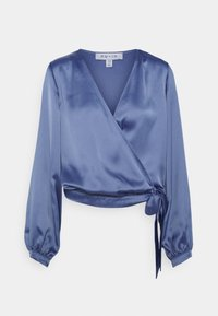 NU-IN - WRAP BALLOON SLEEVE - Blouse - blue - 0