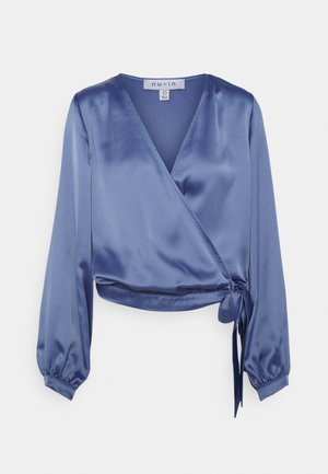 WRAP BALLOON SLEEVE - Blouse - blue