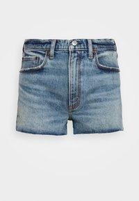Abercrombie & Fitch - PRIDE FLIP SEQUIN - Denim shorts - medium destroy - 4