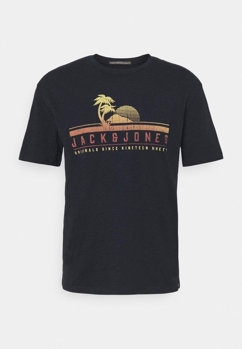 Jack & Jones - JORLAGUNA TEE CREW NECK - Print T-shirt - navy blazer