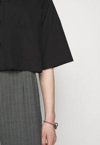 MM6 Maison Margiela - Button-down blouse - black - 4