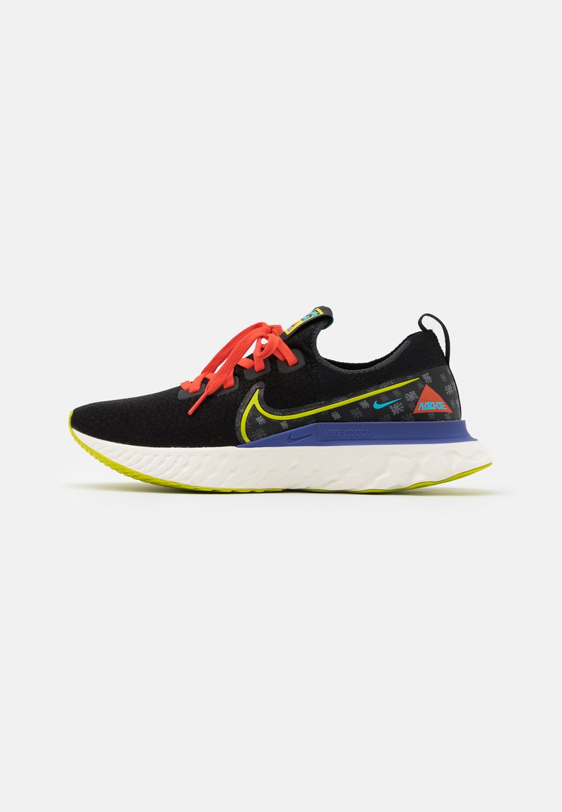 Nike Performance - REACT INFINITY RUN UNISEX - Neutral running shoes - black/bright cactus/sail/rush violet/baltic blue/team orange