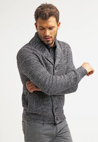 Pier One - Strikjakke /Cardigans - dark grey melange - 0
