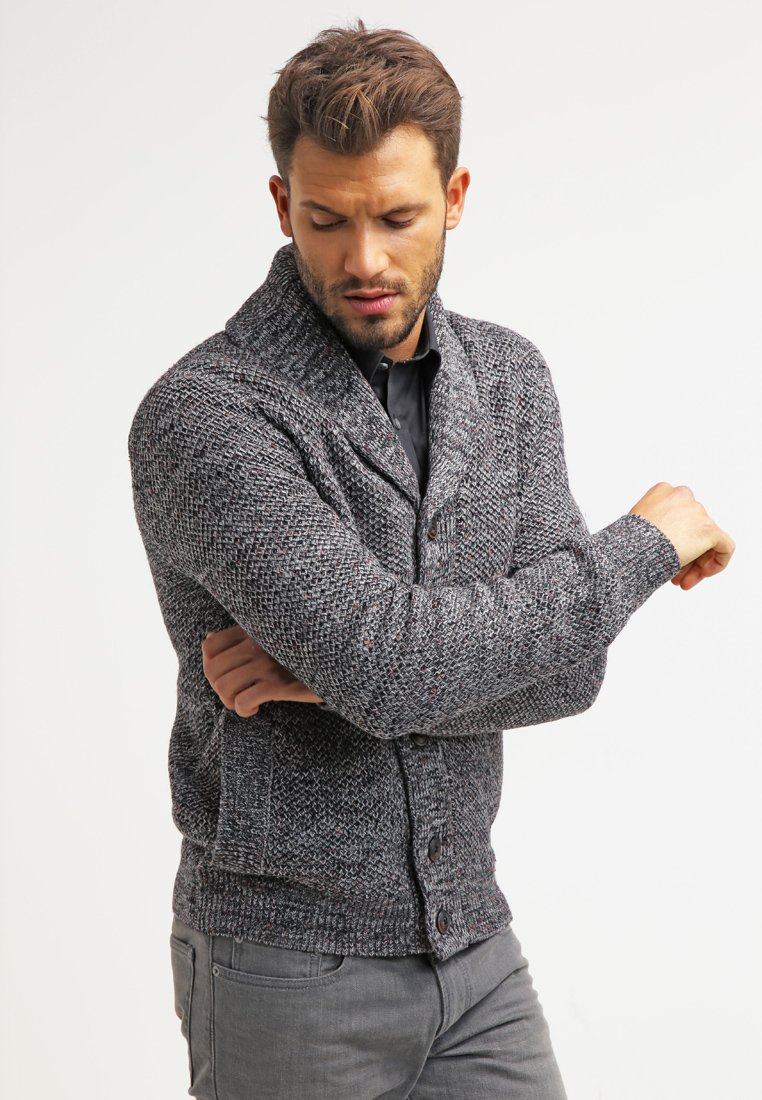 Pier One - Cardigan - dark grey melange