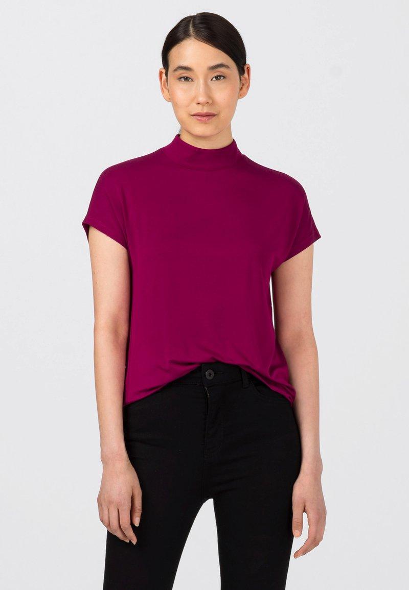 HALLHUBER - Basic T-shirt - cassis