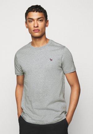 SLIM FIT ZEBRA - Basic T-shirt - mottled grey