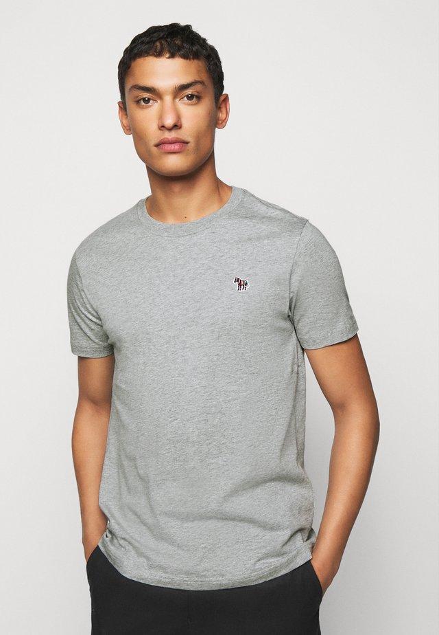 SLIM FIT ZEBRA - T-shirts - mottled grey