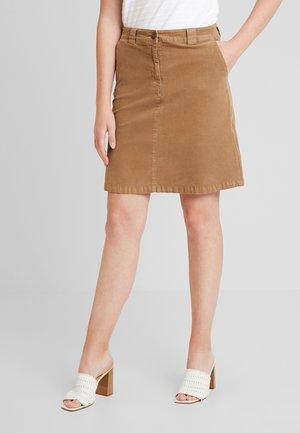 SKIRT CORDUROY STYLE CHINO DETAIL - Áčková sukně - moose caramel
